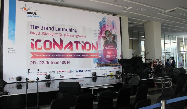 Event : The Grand Launching of BINUS UNIVERSITY @Alam Sutera-Tangerang, 20-23 October 2014