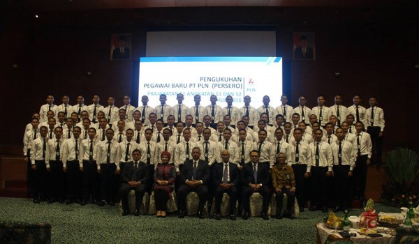 "Event : PT.PLN (Persero) ""Pengukuhan Calon Pegawai Baru Angkatan 51 & 52 Tahap III Tahun 2016"" 4 October 2016 @Kantor Pusat PT.PLN Jakarta"