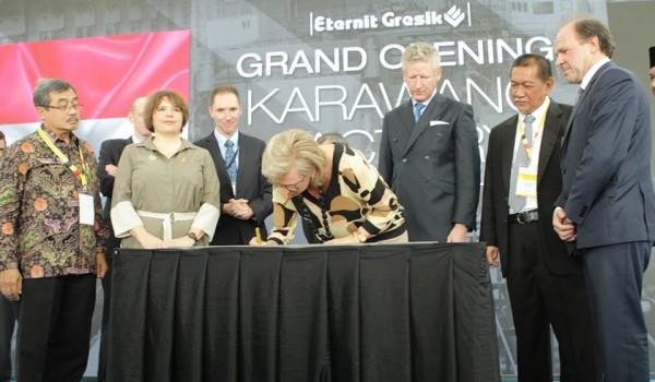 "Event : HRH Princess Astrid Of Belgium Visit ""Grand Opening New Karawang Factory PT.Eternit Gresik"" 18 March 2016 @Kawasan Industri Surya Cipta Karawang Jawa Barat"