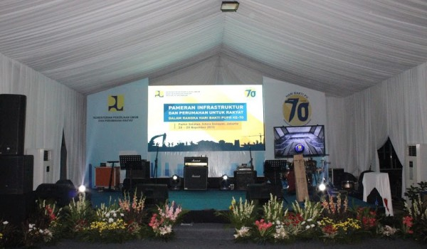 """Event : Kementerian Pekerjaan Umum dan Perumahan Rakyat – RI """"70th Hari Bakti PU Bangun Infrastruktur Untuk Negeri"""" 3-4 December 2015 @Gedung Kementerian PUPR Jakarta"""